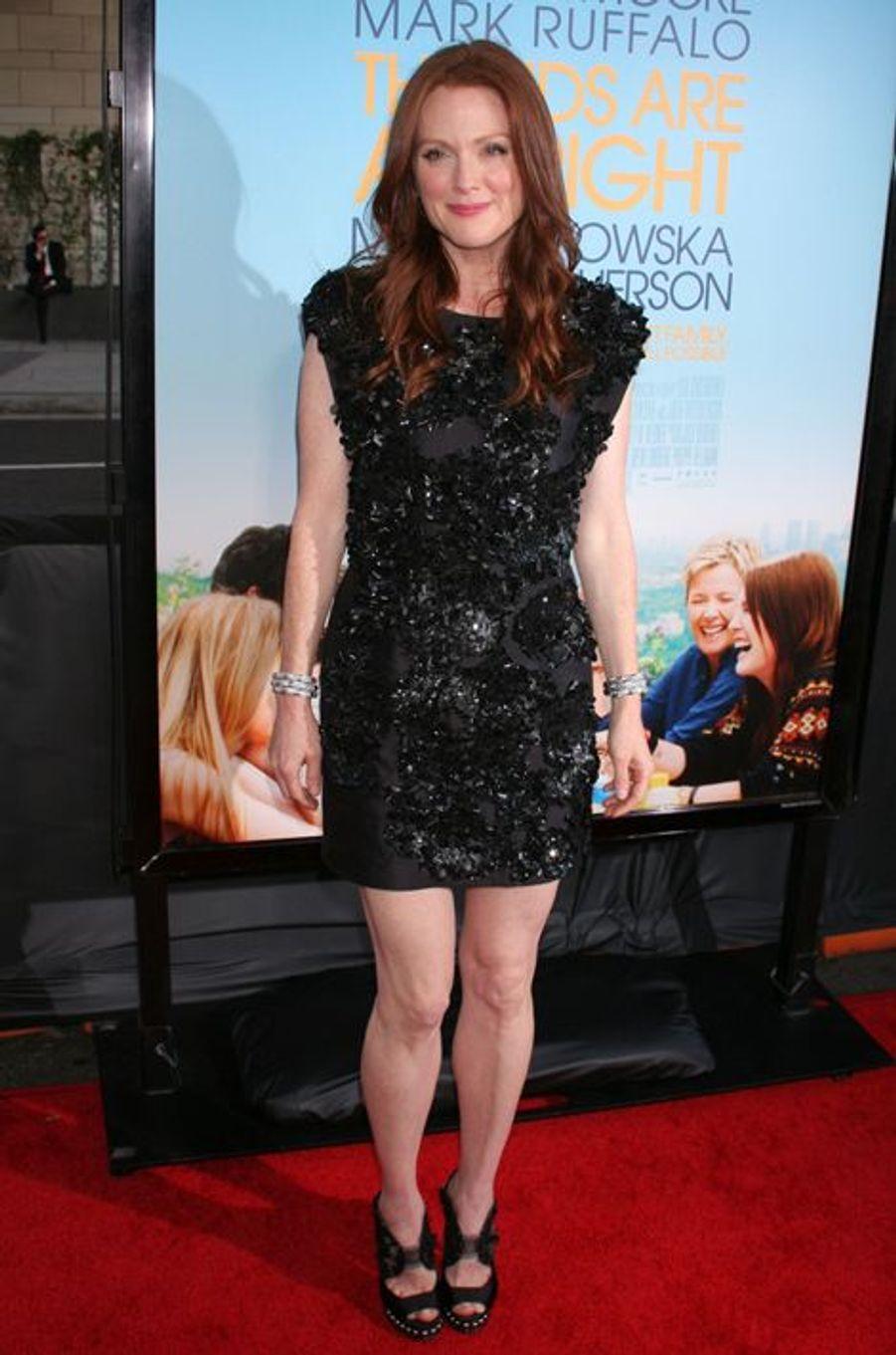 """En Mulberry à la première hollywoodienne de """"The Kids are All Right"""", en juin 2010"""