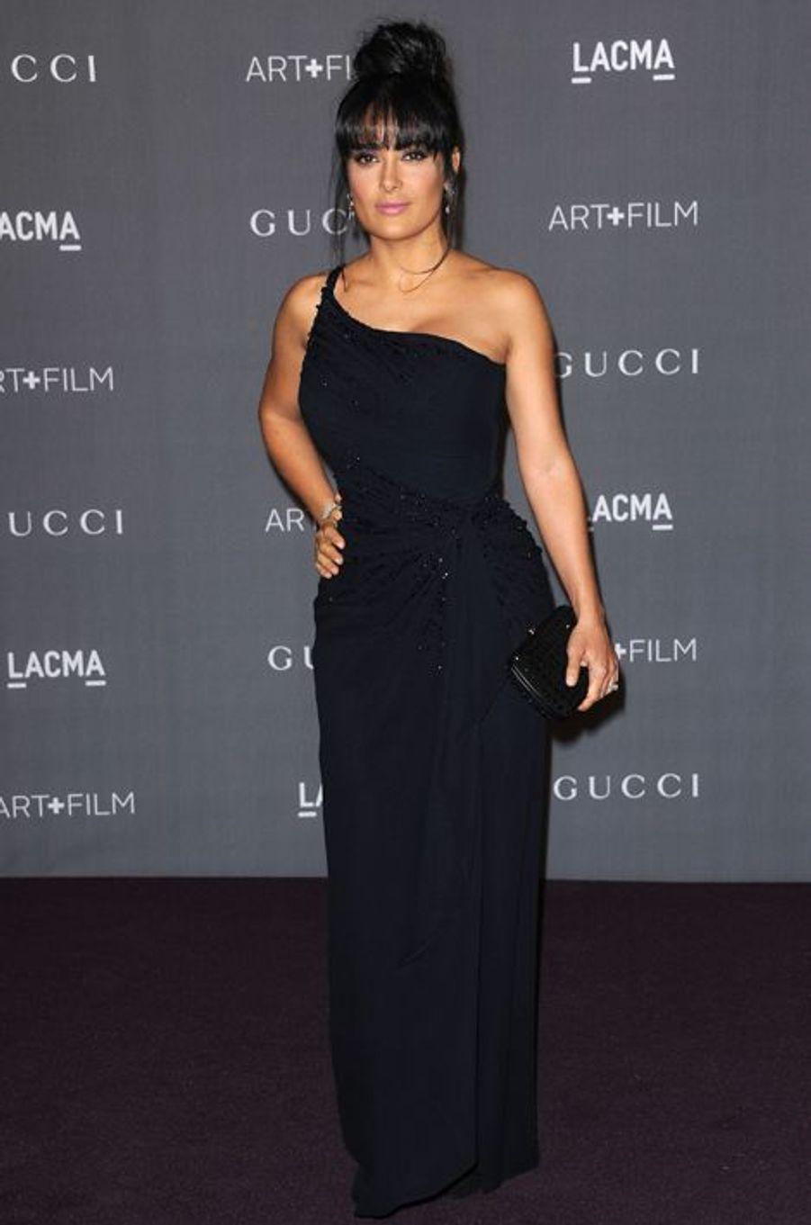 Salma Hayek en Gucci au LACMA Art + Film Gala en octobre 2012