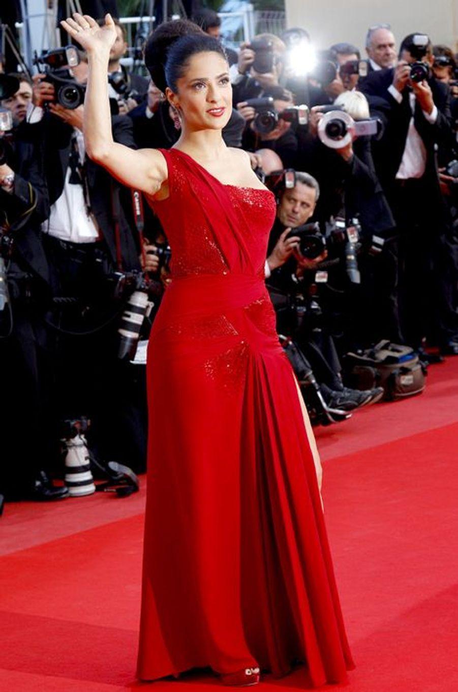 Salma Hayek en Gucci Première au Festival de Cannes, en mai 2010