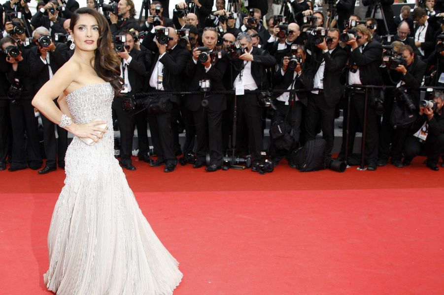 Salma Hayek en Gucci Première au Festival de Cannes, en mai 2011