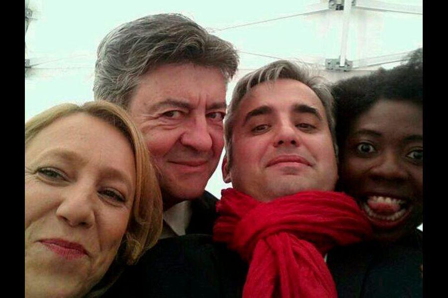 Danielle Simonnet, Jean-Luc Mélenchon et Alexis Corbière