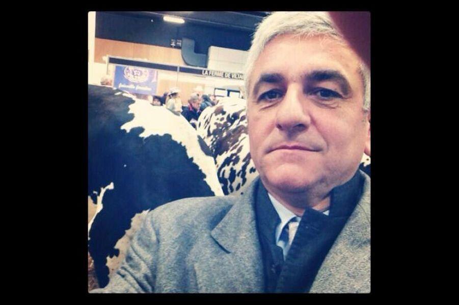 Hervé Morin au Salon de l'agriculture, le 27 février.