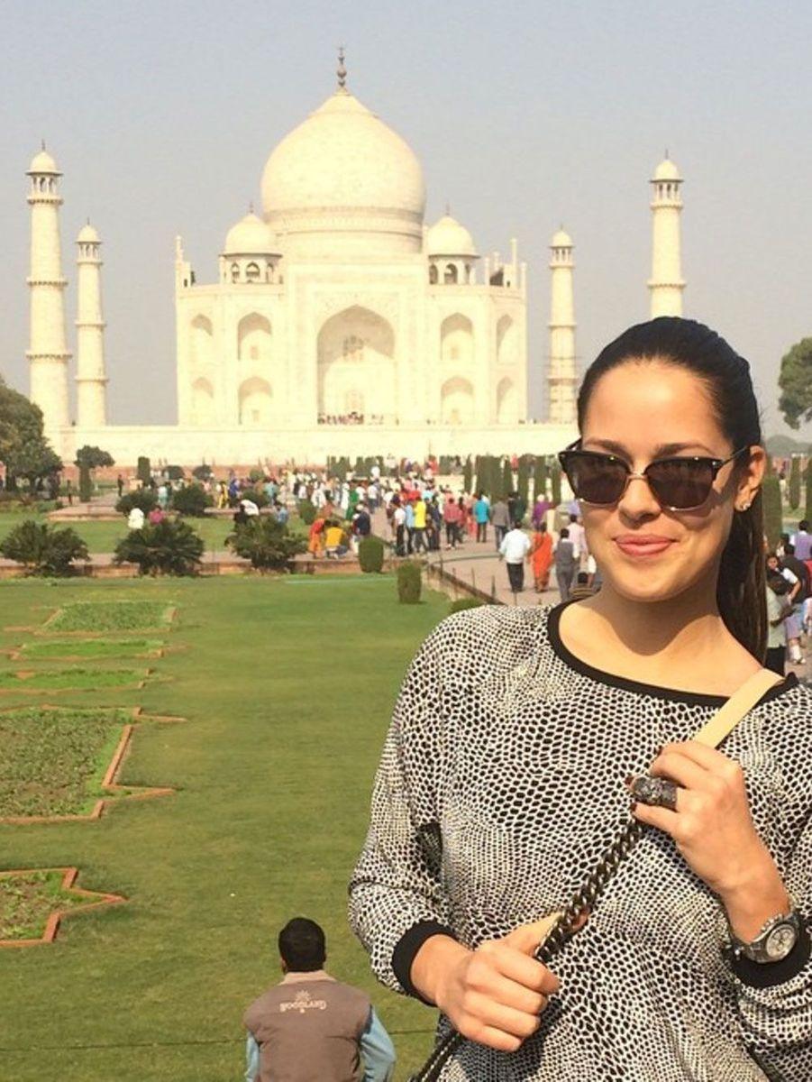 Ana Ivanovic visite l'Inde