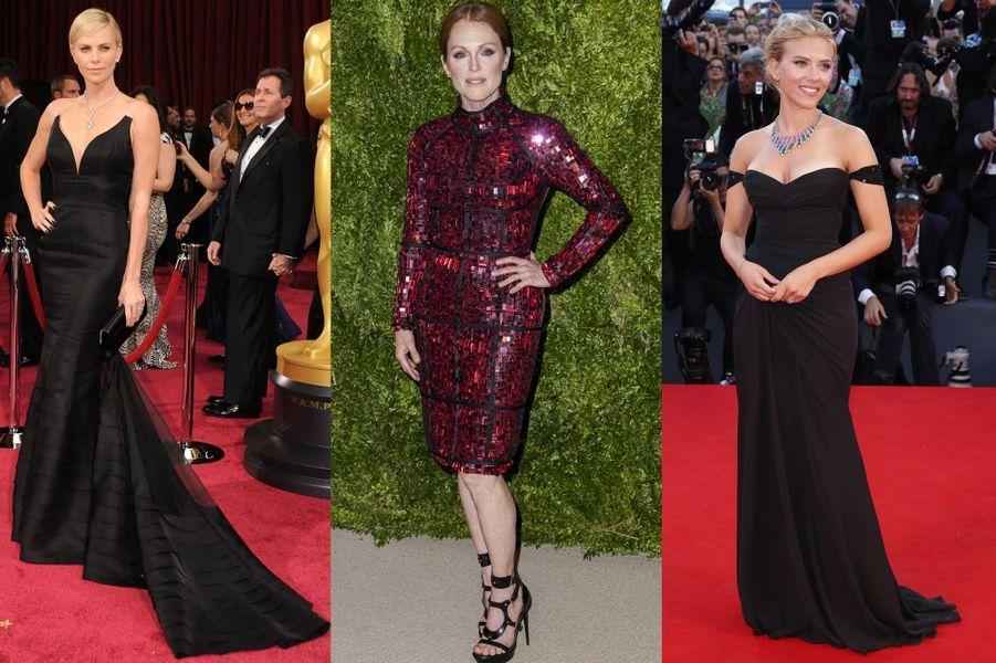Une équipe de clientes grand luxe pour la styliste:Julianne Moore, Reese Witherspoon, Charlize Theron, Scarlett Johansson et Jennifer Connelly.