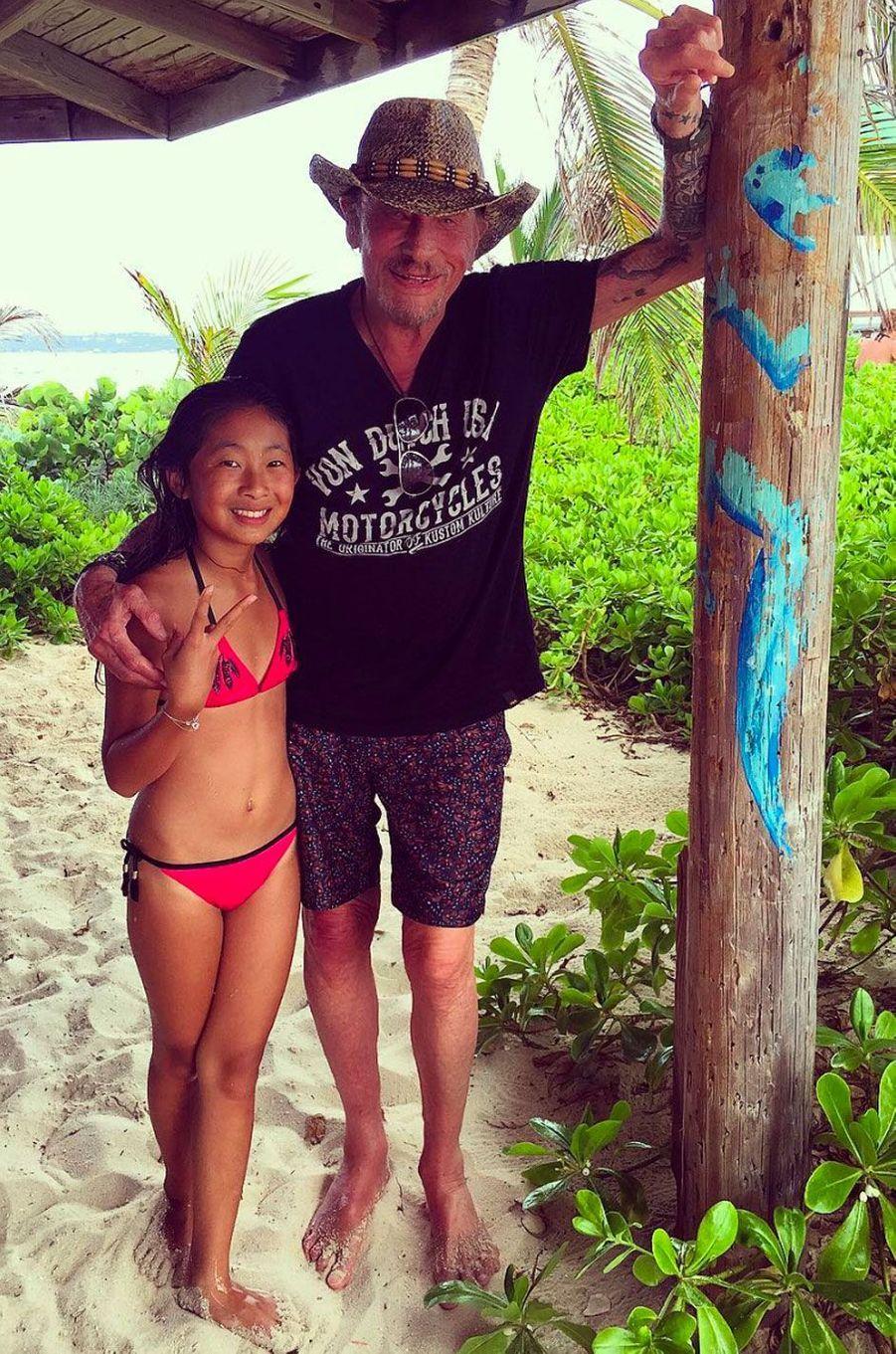 Johnny hallyday et sa fille Jade