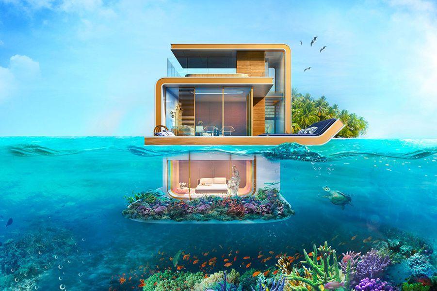 Les incroyables villas sous-marines ont été construites