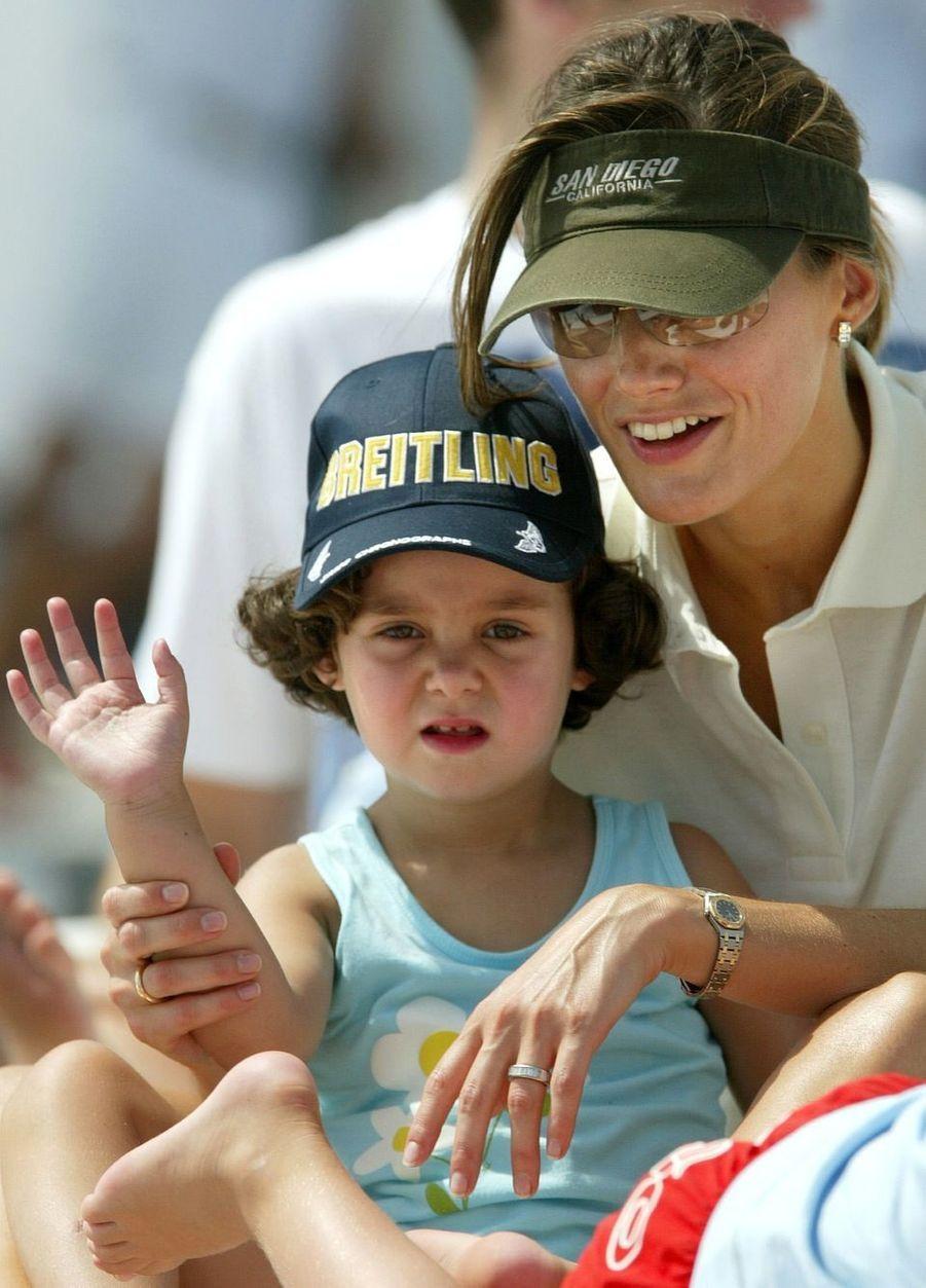 En 2004 avec sa nièce Victoria Federica