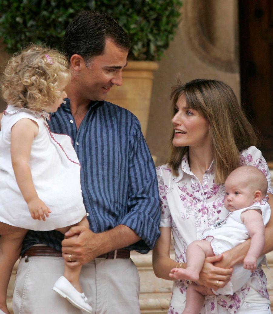 En 2007, la petite famille au grand complet