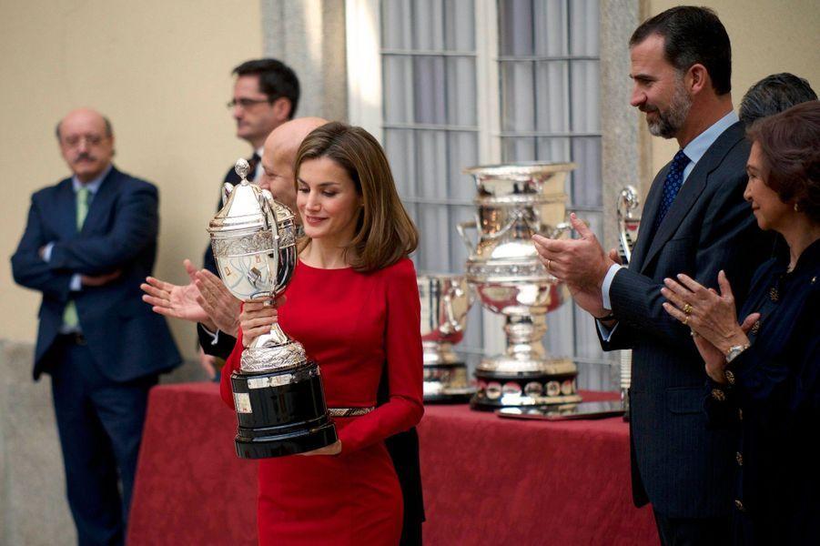 Letizia, Felipe, Sofia et les grands du sport