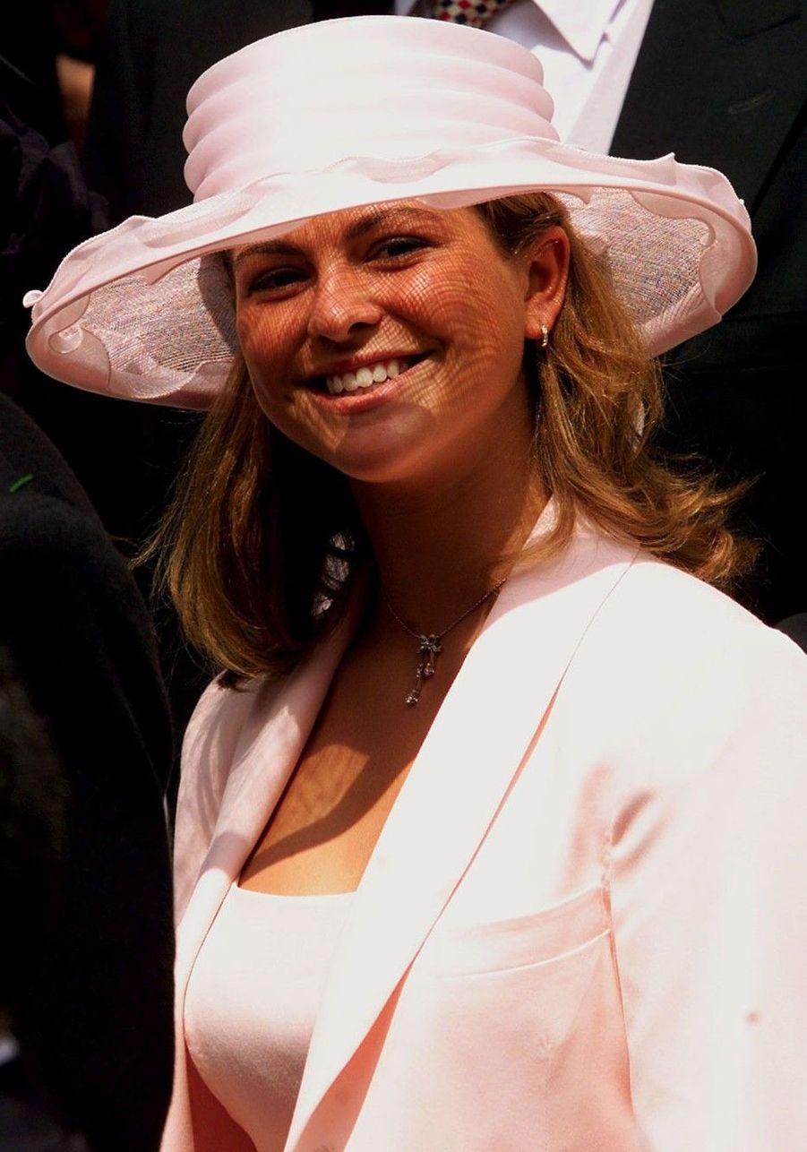 Au mariage de la princesse Alexia de Grèce, en 1999
