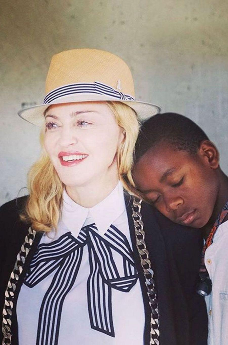 Madonna et David au Malawi