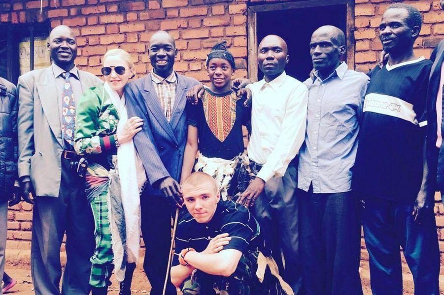 Madonna, Rocco et David au Malawi