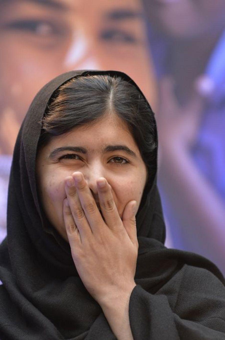 Malala à la Banque mondiale pour la Journée internationale des filles, le 11 octobre 2013