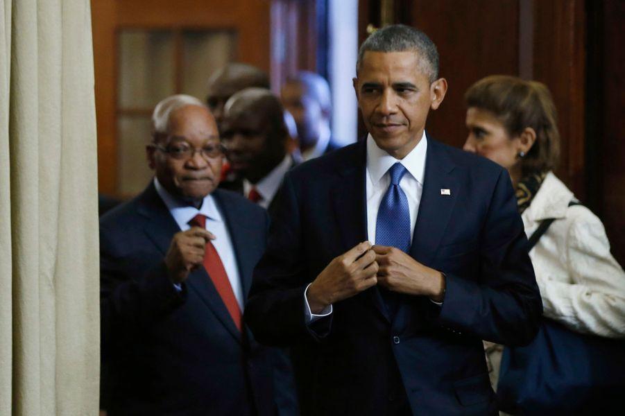 Malgré l'inquiétude Mandela, l'Afrique du Sud accueille Obama