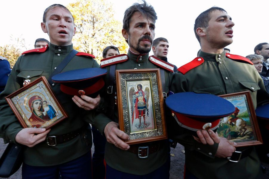 Manifestation sous haute tension à Saint-Pétersbourg