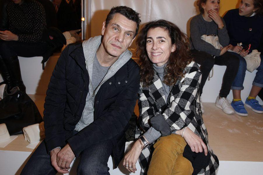 Marc Lavoine et Mademoiselle Agnès à Paris le 27 janvier 2016