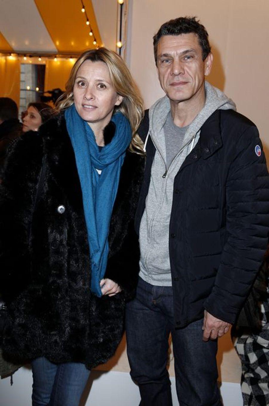 Sarah et Marc Lavoine à Paris le 27 janvier 2016
