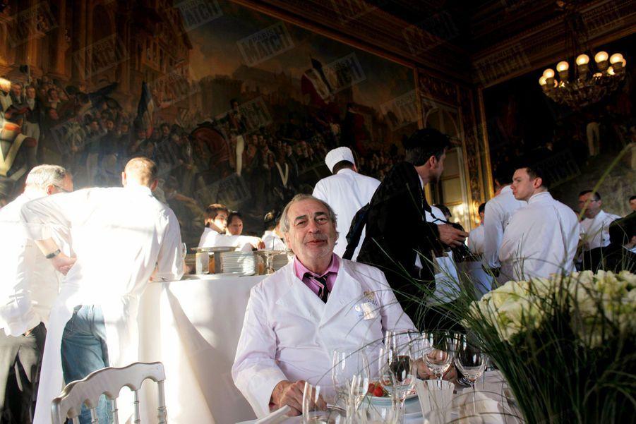Marc Meneau lors du« dîner du siècle»à Versailles, en avril 2011.