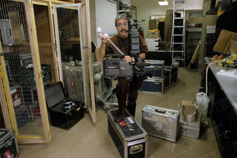 Marcel Béliveau dans ses studios, au Québec en février1990.
