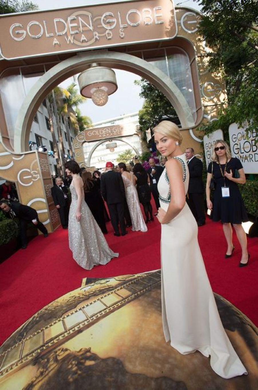 Margot Robbie aux Golden Globes à Los Angeles le 12 janvier 2014.