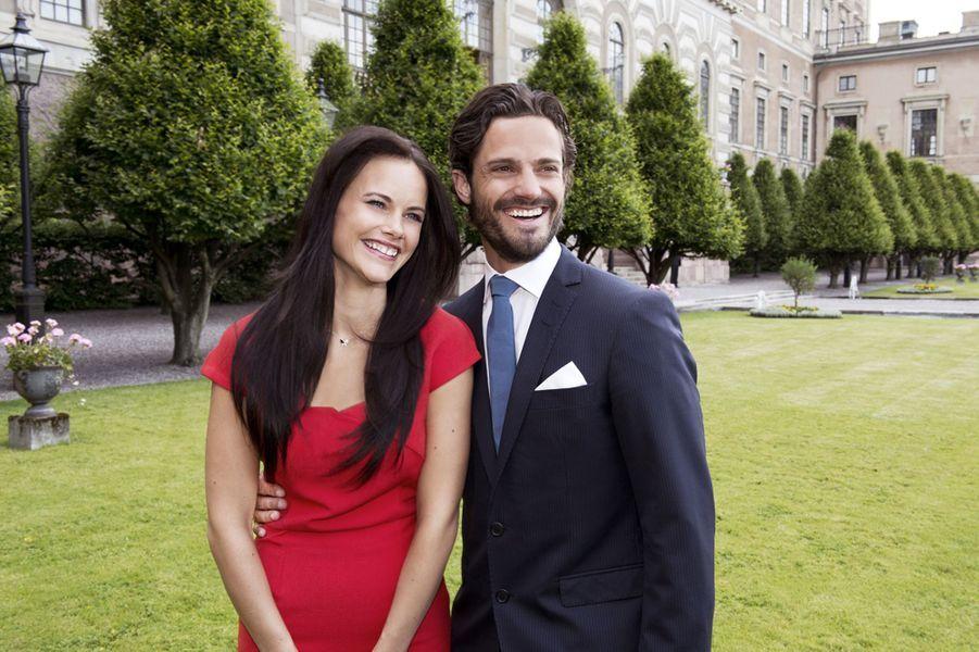 Carl-Philip et de Sofia Hellqvist à l'annonce de leurs fiançailles