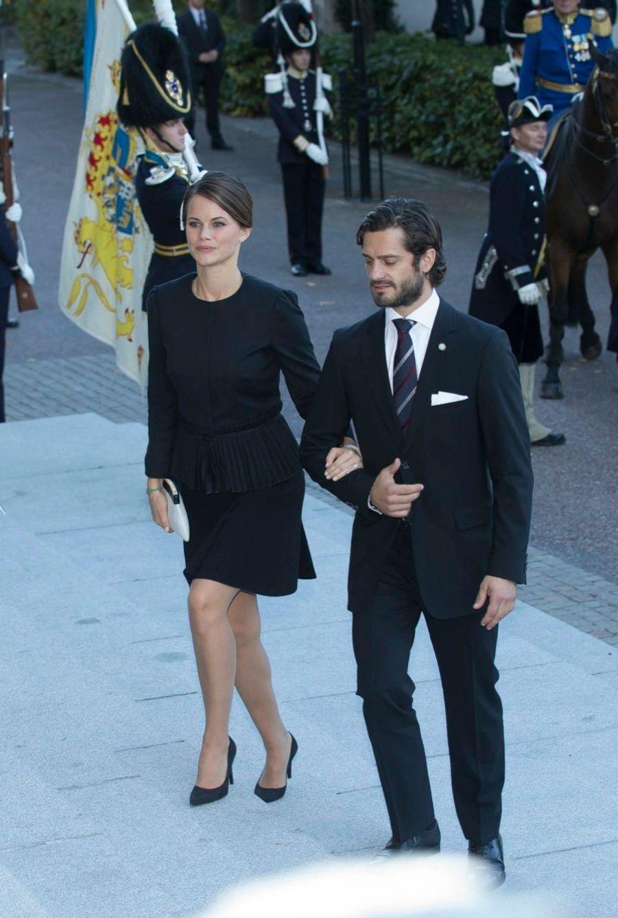 Sofia et Carl Philip à l'ouverture du parlement de Suède, le 30 septembre 2014