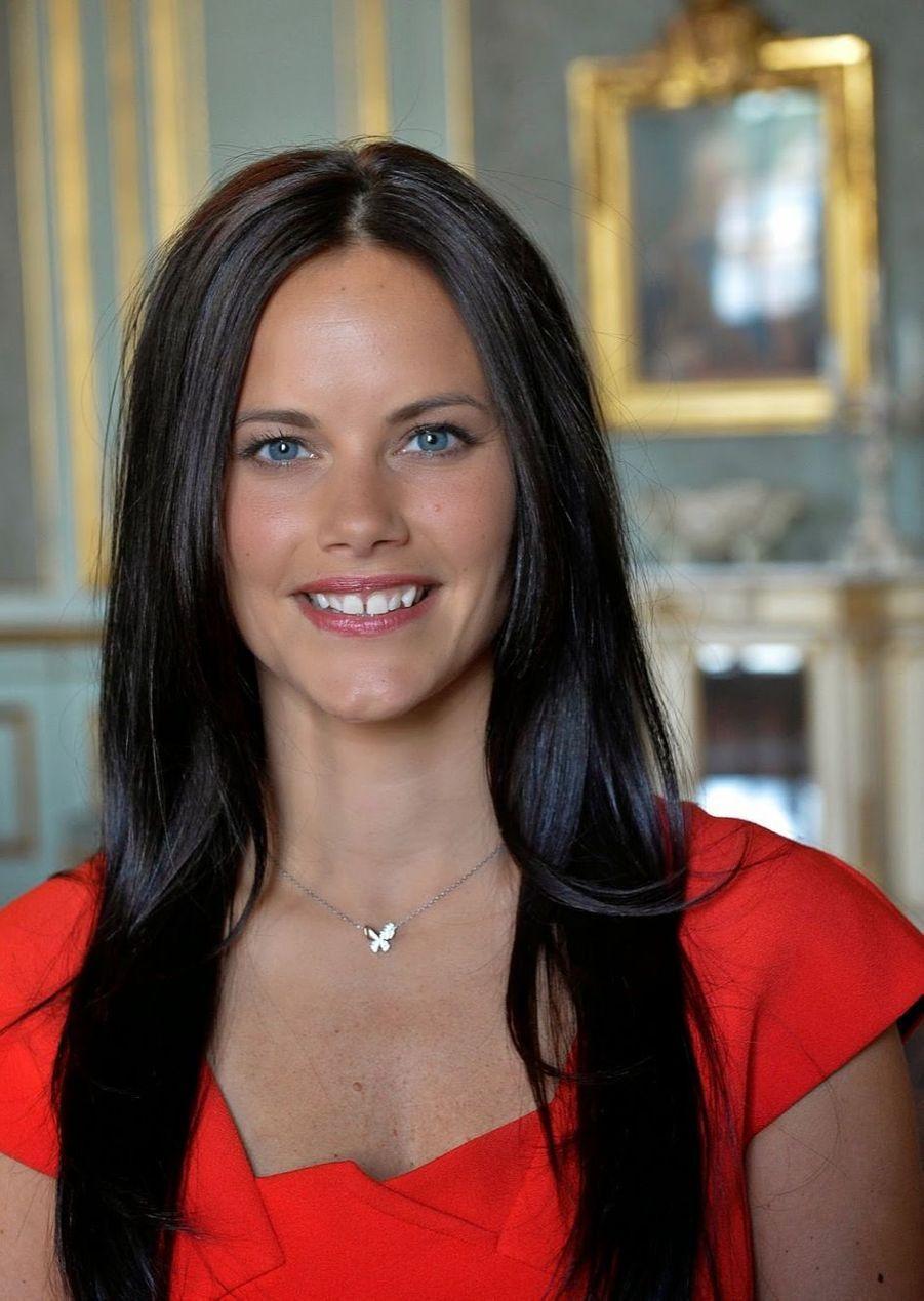 Sofia Hellqvist à l'annonce de ses fiançailles avec le prince Carl Philip de Suède