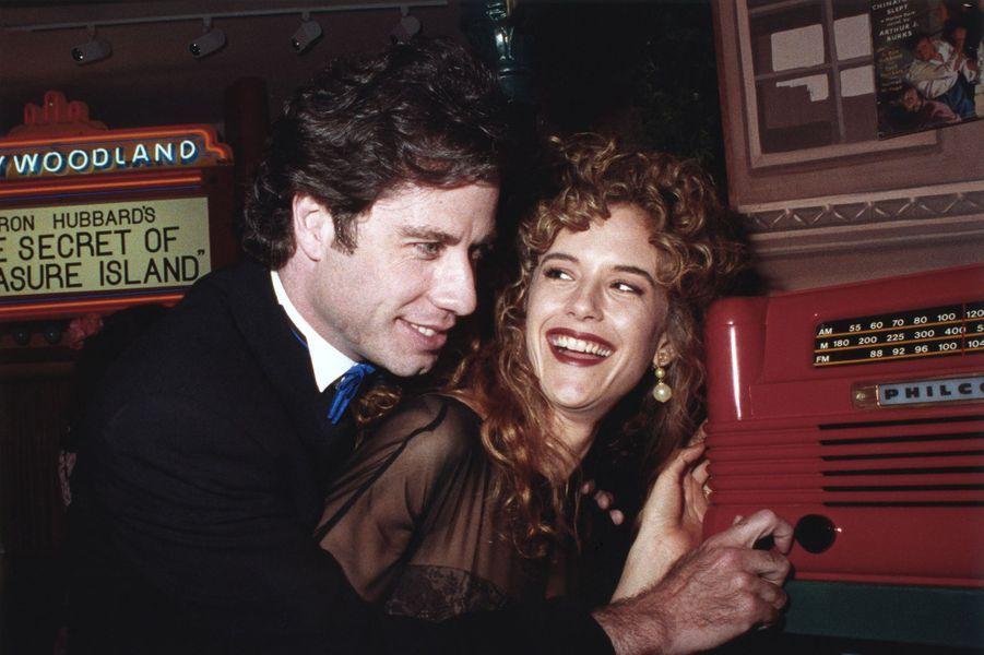 Kelly Preston et John Travolta en 1991.