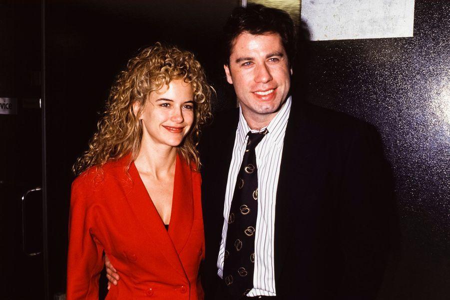 Kelly Preston et John Travolta à Paris, en septembre 1991.