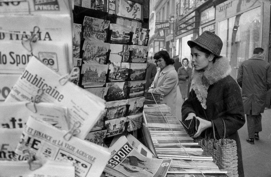 Marie-José Nat à Parisen décembre 1962.