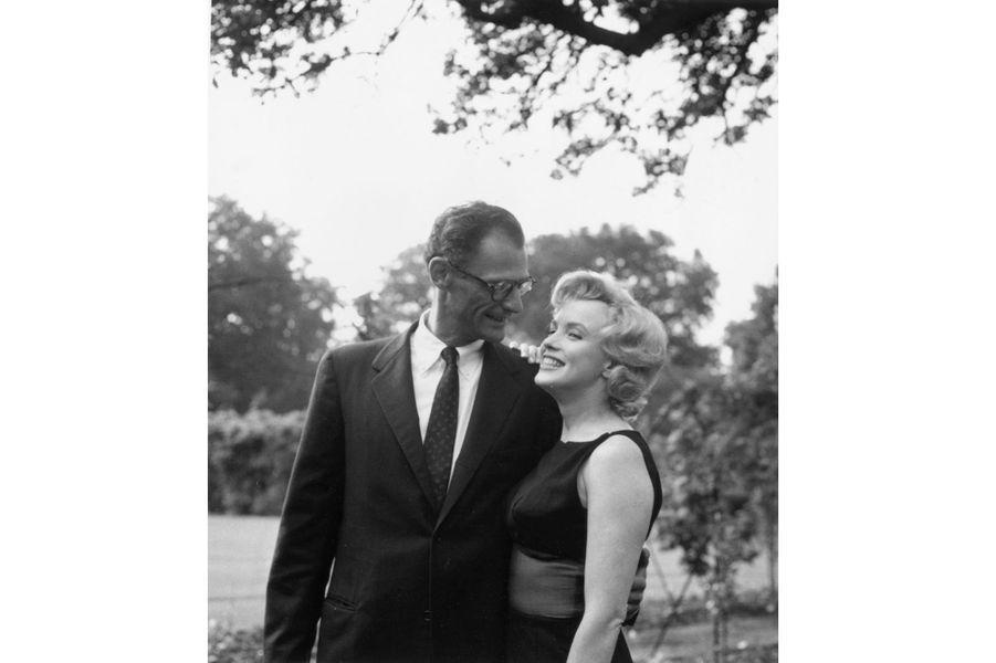 Les jours heureux avec son mari Arthur Miller le 16 juillet 1956