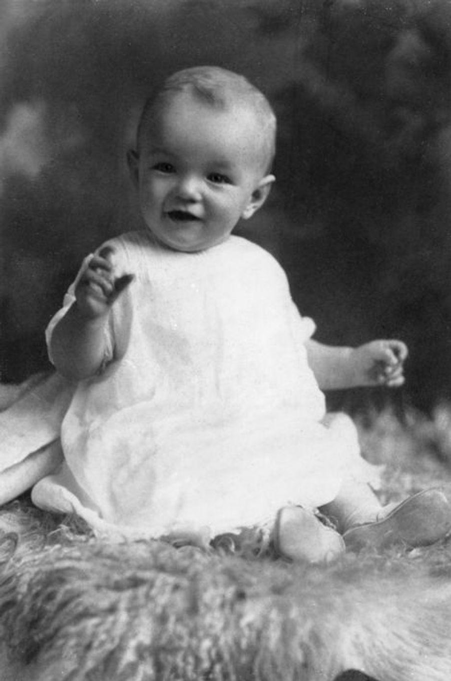 Marylin Monroe à l'âge de 6 mois, en 1927