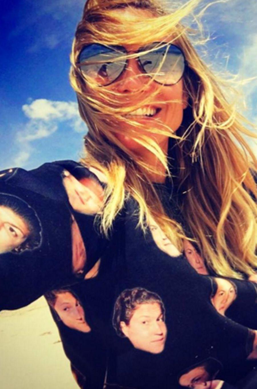 Heidi Klum en plein journée plage pour le 4 Juillet