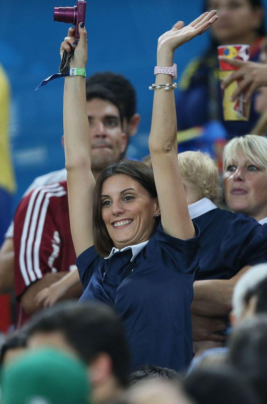 Marine à Rio pour supporter Hugo Lloris pendant la Coupe du monde 2014