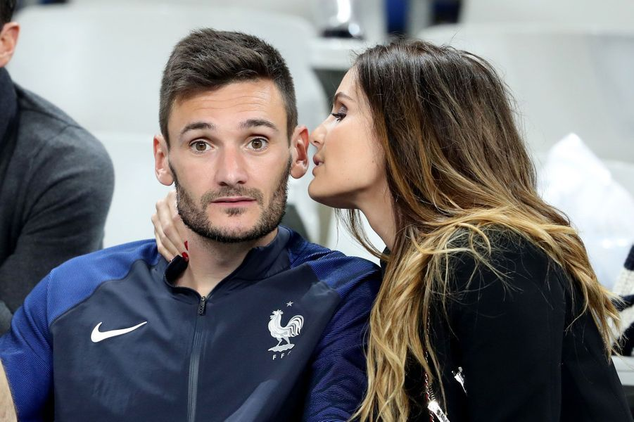 Marine et Hugo Lloris après le match France-Islande