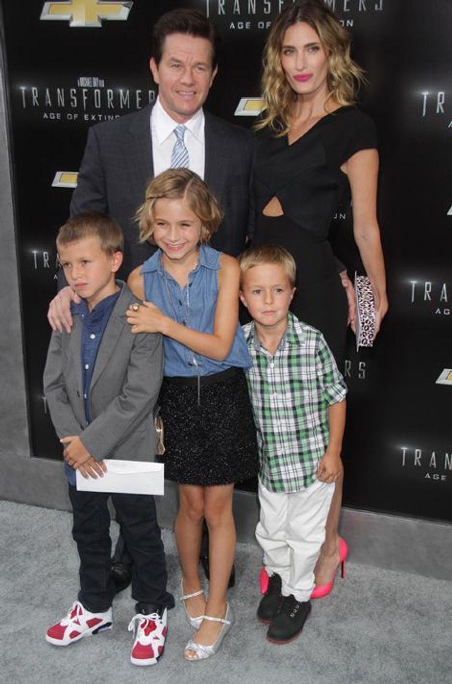 Avec son épouse et leurs enfants Brendan, Ella Rae et Michael