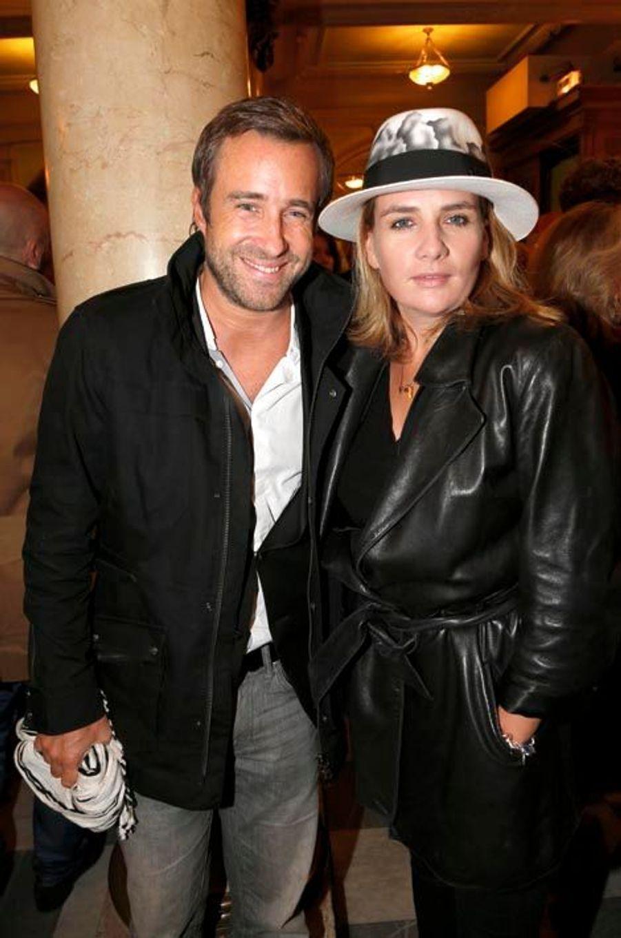 Benjamin Didier et sa fiancée, Marie-Amélie Seigner.