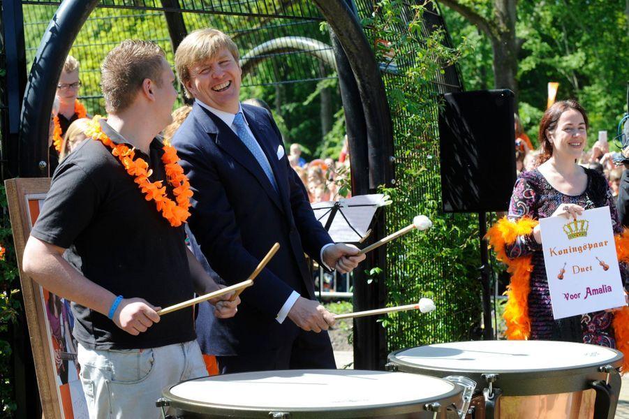 Maxima et Willem-Alexander en visite à Drenthe