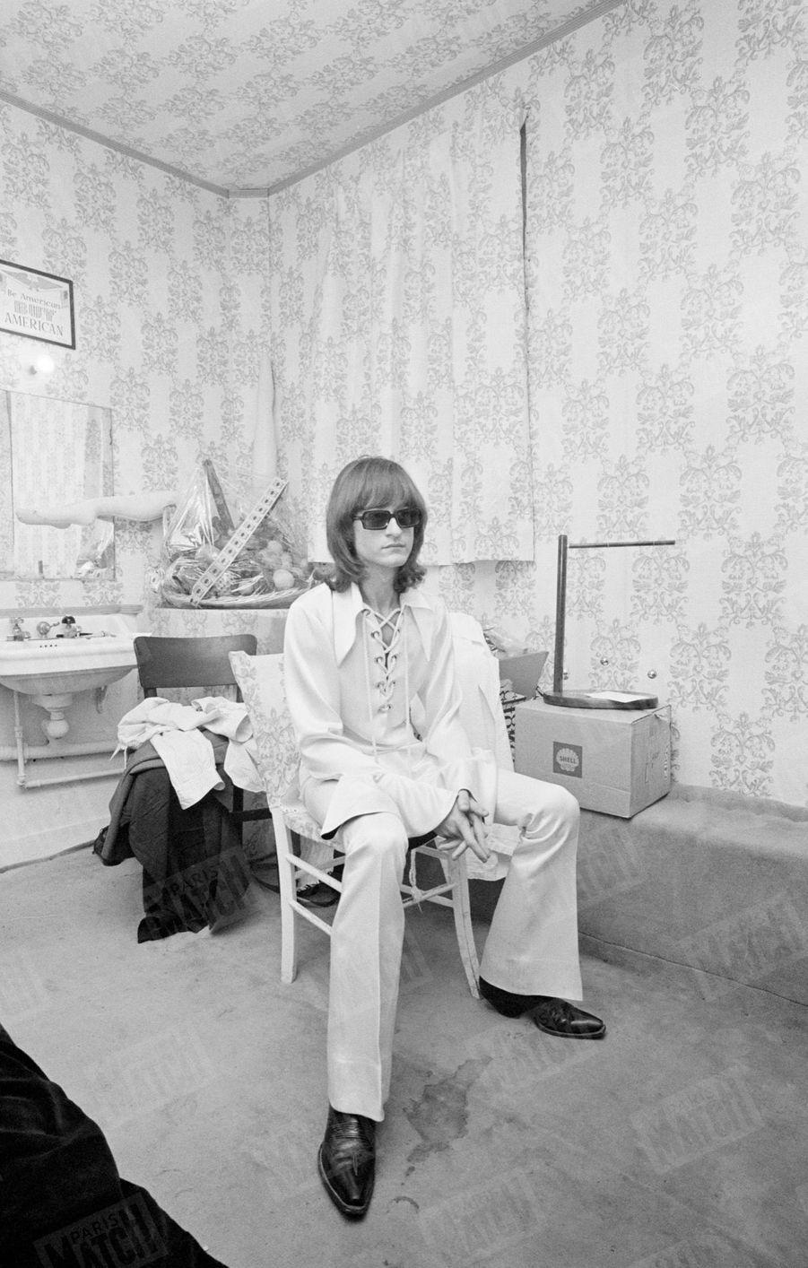 Michel Polnareff à Paris, en janvier 1970.