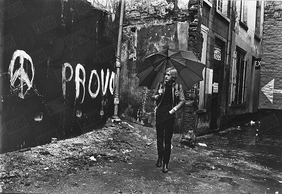 Michel Polnareff à Bruxelles, en février 1967.