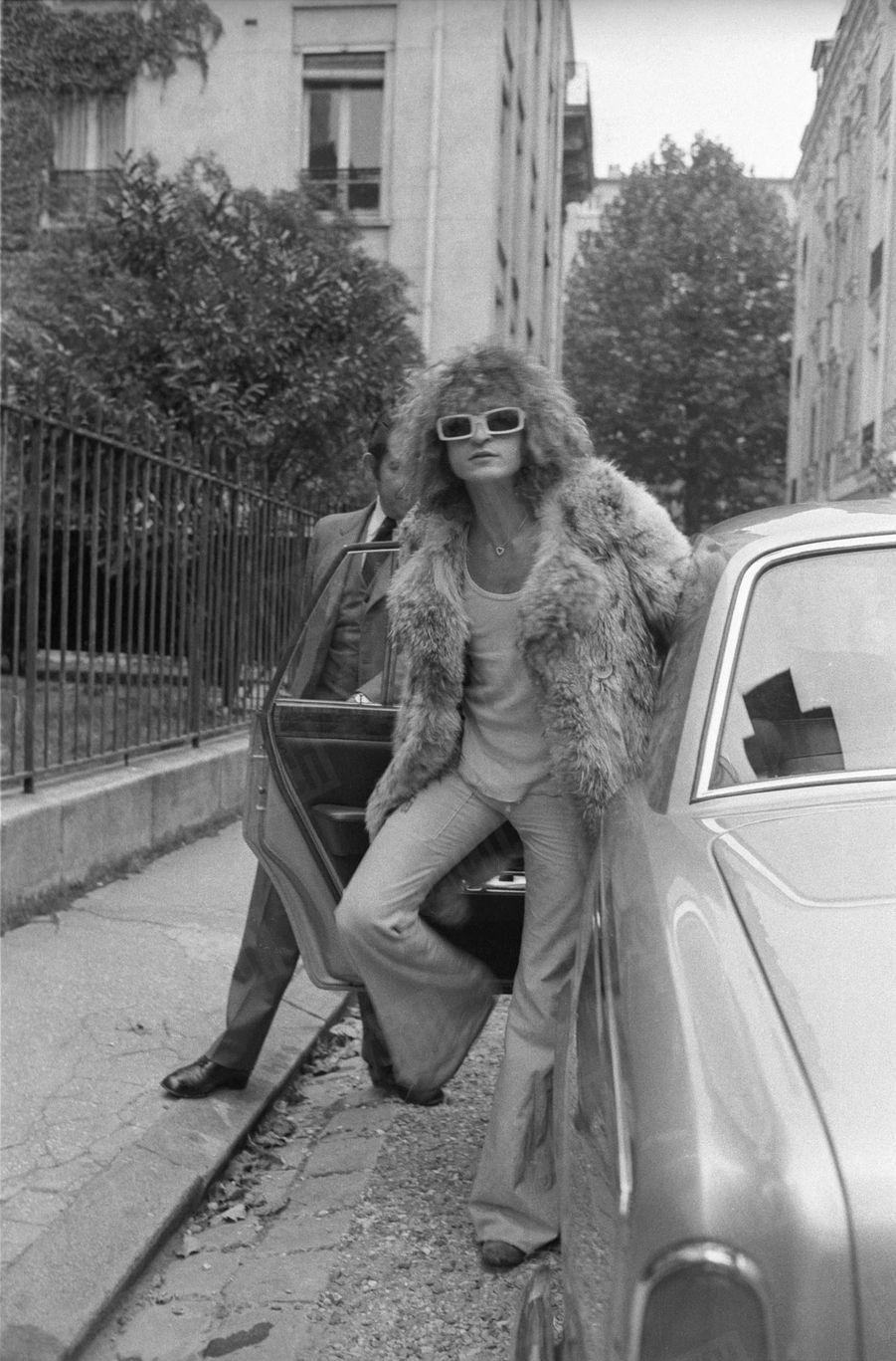 Michel Polnareff à Paris, en septembre 1972.