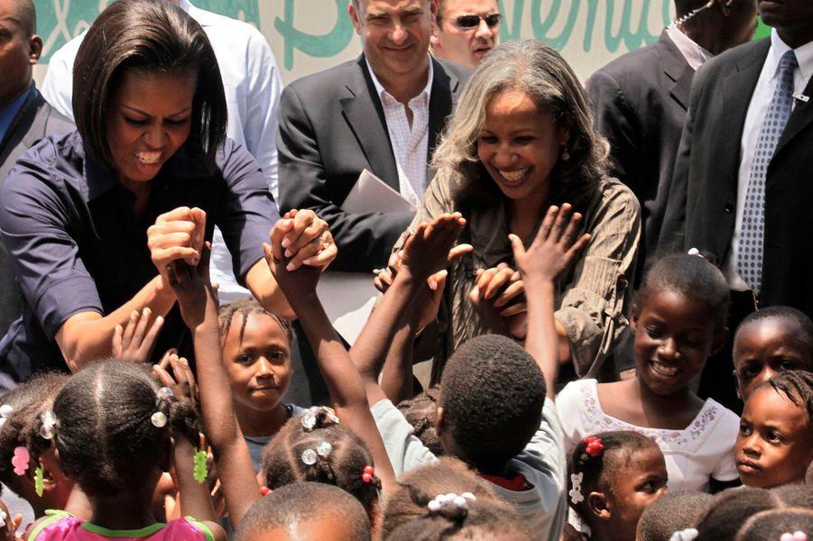 Avril 2010 : en visite en Haïti