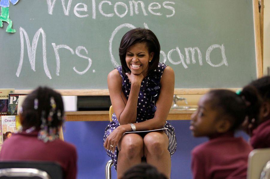 Mai 2009 : visite dans une école de Washington