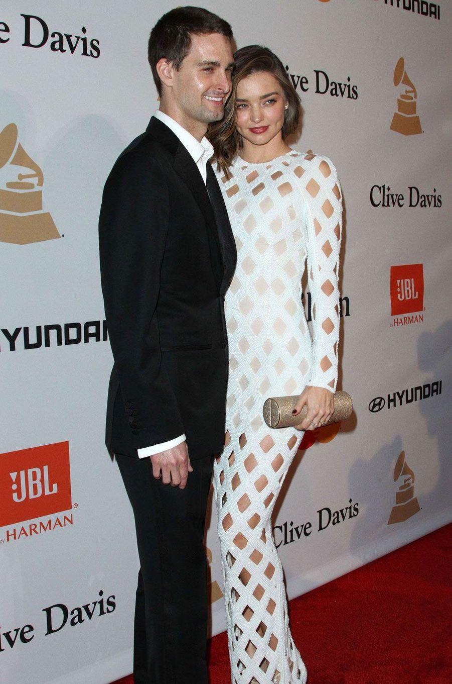 Miranda Kerr et Evan Spiegel en février 2016