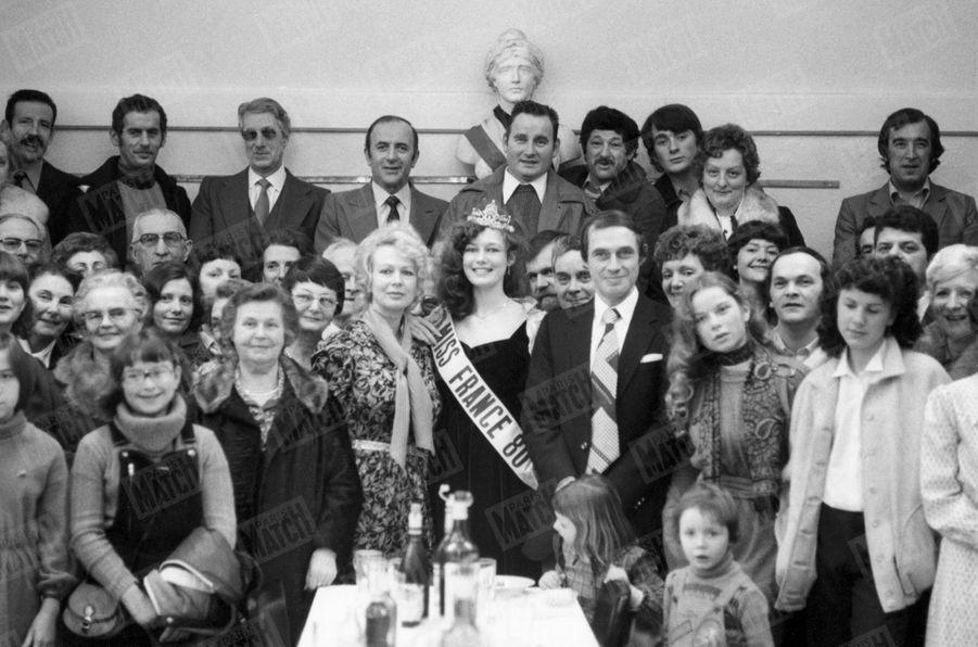 """""""Le maire de son village d'Arbouans a voulu fêter l'élection de Patricia par un vin d'honneur avec les amis et les notables ravis."""" - Paris Match n°1599, 18 janvier 1980"""