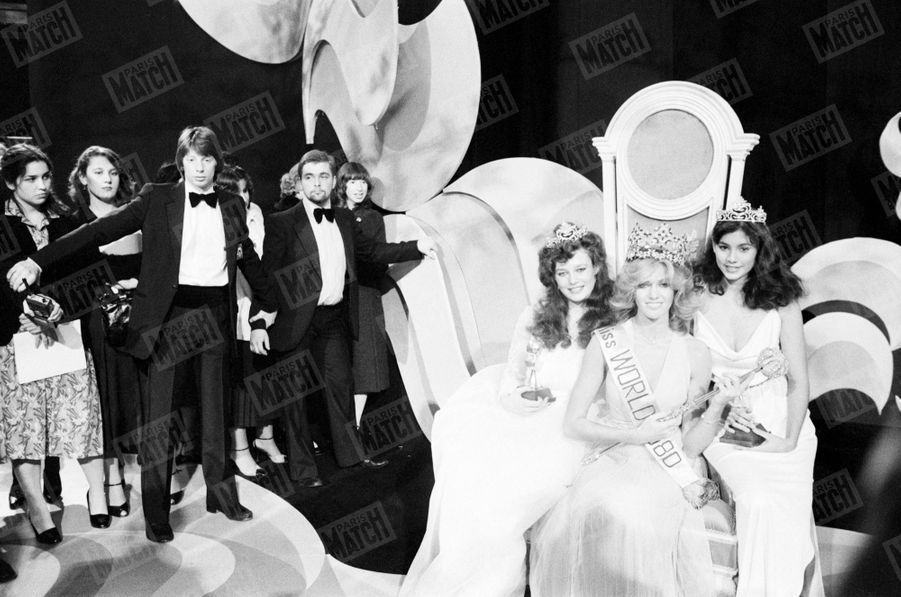 Election de Miss Monde 1980 au Royal Albert Hall de Londres, 13 novembre 1980. Patricia Barzyk finit deuxième dauphine, puis première après le retrait de la gagnante l'Allemande Gabriella Brum.