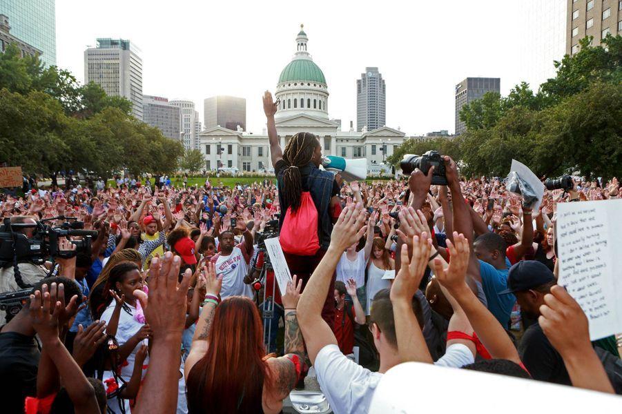 A St Louis, une manifestation de soutien a eu lieu