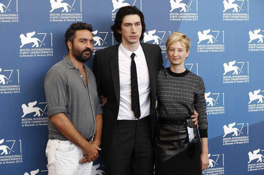 Saverio Costanzo, Adam Driver et Alba Rohrwacher pour le photocall de«Hungry Hearts»