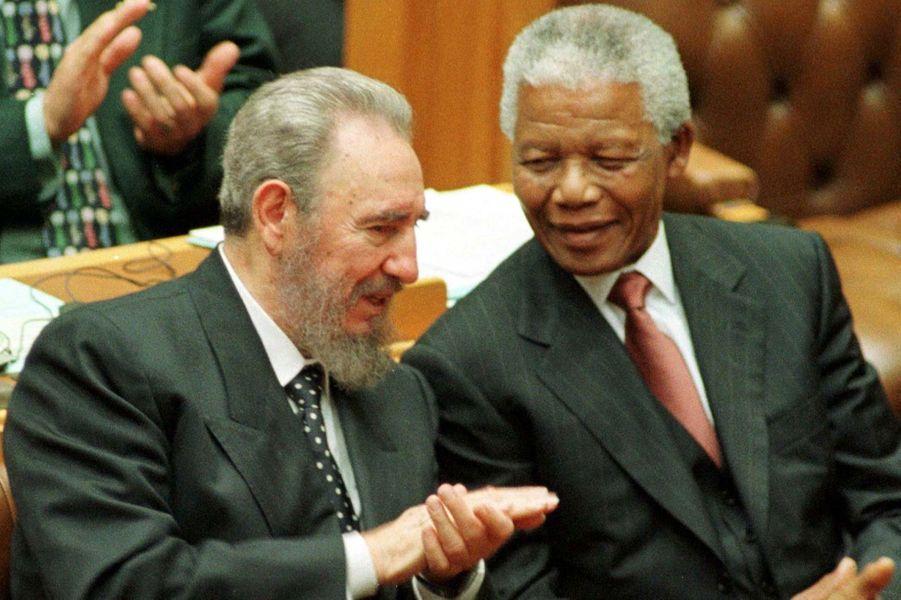 Avec Fidel Castro, en septembre 1998
