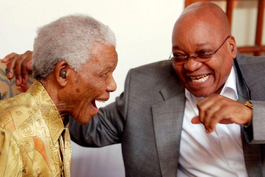Avec Jacob Zuma, en février 2010